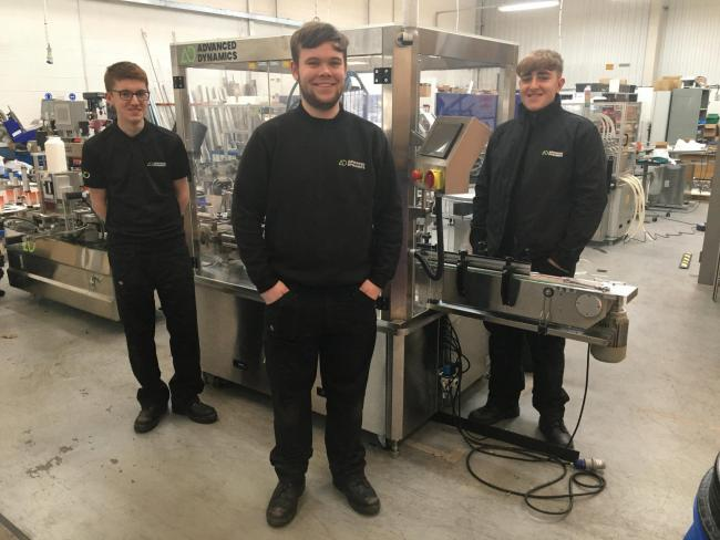 Bradford firm Advanced Dynamics takes on three new apprentice engineers