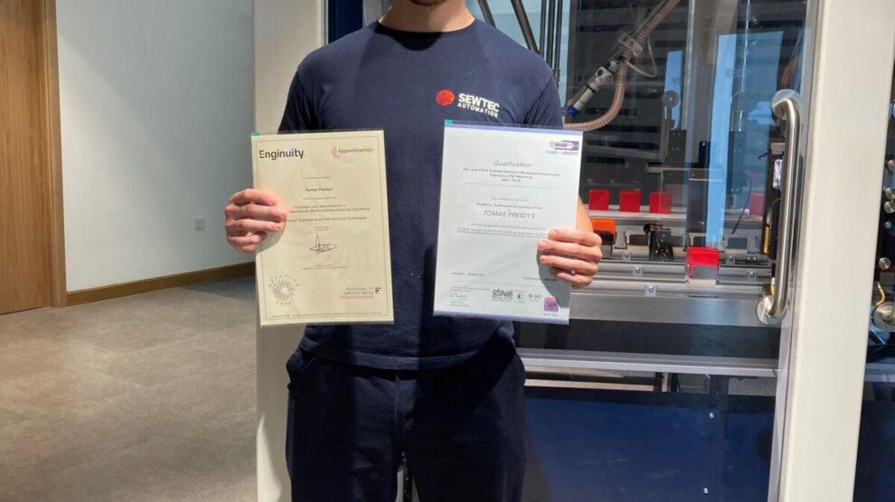 Tomas Preidys Advanced Apprenticeship Framework Achievement